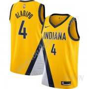 Barn NBA Tröja Indiana Pacers 2019-20 Victor Oladipo 4# Guld Finished Statement Edition Swingman..